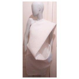 Rick Owens-Robe de défilé-Blanc cassé