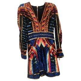 Balmain-Robes-Multicolore