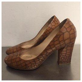 Casadei-Aligator pumps-Brown