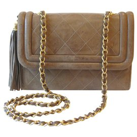 Chanel-Handle bag chain-Brown