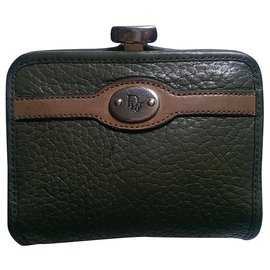 Christian Dior-Purses, wallets, cases-Khaki