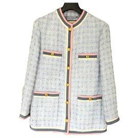 Gucci-Longue veste GUCCI-Bleu clair