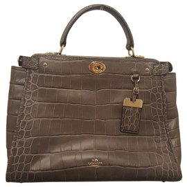 Coach-Coach Gramercy Satchel Limited Edition-Grey