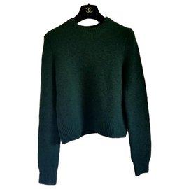 Céline-Knitwear-Dark green
