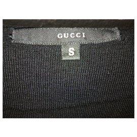 Gucci-Pull en cachemire à col en V GUCCI-Noir