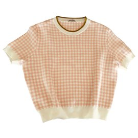Miu Miu-Knitwear-Pink,White