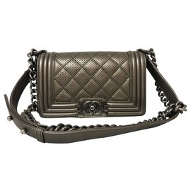 Chanel-Petit sac Chanel Boy-Doré
