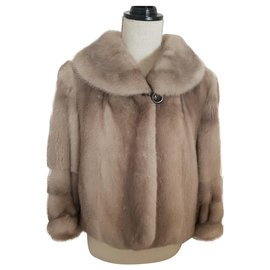 Yves Salomon-Yves Salomon short mink-Beige
