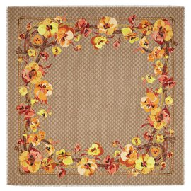Gucci-gucci floral yellow beige new-Beige,Yellow