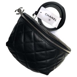 Chanel-Chanel uniform bum bag 2019-Black