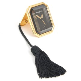 Chanel-FIRST ALARM CLOCK-Black,Golden