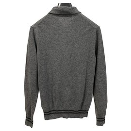 Comme Des Garcons-Play Comme des Garçons wool polo sweater-Grey