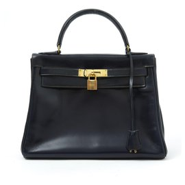 Hermès-Kelly 28 NAVY-Navy blue