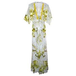 Roberto Cavalli-Dresses-White,Yellow