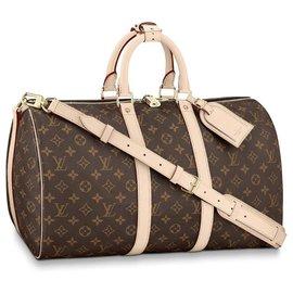 Louis Vuitton-Louis Vuitton Keepall bandouliere nouveau-Marron