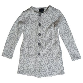 Cynthia Rowley-Coats, Outerwear-White,Grey