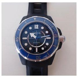 Chanel-Chanel J watch12 Navy-Black,Navy blue