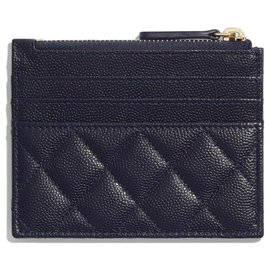 Chanel-Chanel Card Wallet new-Blue