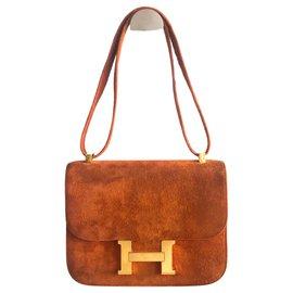 Hermès-Hermes Constance veal doblis Camel-Caramel