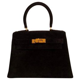 Hermès-hermes kelly 20 Black Doblis calf-Black