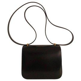 Hermès-Hermes Constance 18 Box Noir-Noir