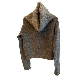 Acne-Knitwear-Grey