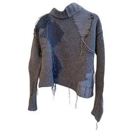 Acne-Knitwear-Blue