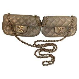 Chanel-lined mini Twin-Golden,Cream