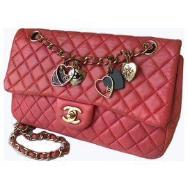 Chanel-Sac Valentine Flap Medium-Rose,Fuschia