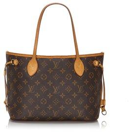 Louis Vuitton-Louis Vuitton Brown Monogram Neverfull PM-Brown