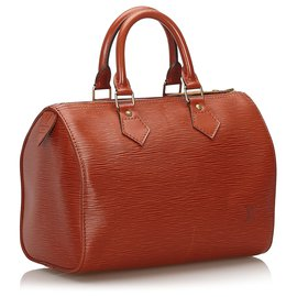 Louis Vuitton-Louis Vuitton Brown Epi Speedy 25-Brown