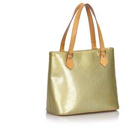 Louis Vuitton-Louis Vuitton Gold Vernis Houston-Golden