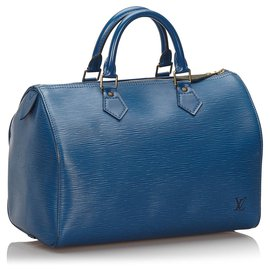 Louis Vuitton-Louis Vuitton Blue Epi Speedy 30-Blue