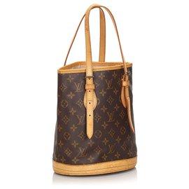 Louis Vuitton-Louis Vuitton Brown Monogram Petit Bucket-Brown