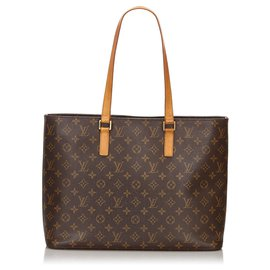 Louis Vuitton-Louis Vuitton Brown Monogram Luco Tote-Brown