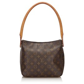 Louis Vuitton-Louis Vuitton Brown Monogram Looping MM-Brown