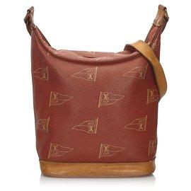 Louis Vuitton-Louis Vuitton Red 1995 Americas Cup Touquet Bag-Brown,Red,Light brown