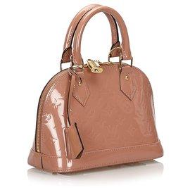 Louis Vuitton-Louis Vuitton Pink Vernis Alma BB with Strap-Pink