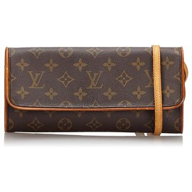 Louis Vuitton-Louis Vuitton Brown Monogram Pochette Twin GM-Brown