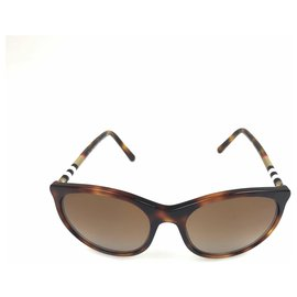 Burberry-Burberry Brown Round Enamel Gradient Sunglasses-Brown