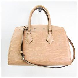Louis Vuitton-Louis Vuitton Brown Epi Soufflot MM-Brown,Beige