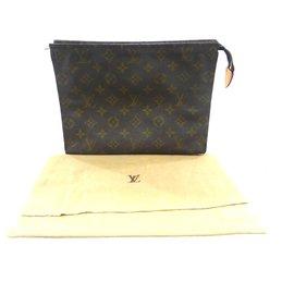 Louis Vuitton-TOILET POCKET 26 Monogram-Brown