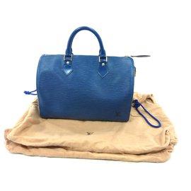 Louis Vuitton-Speedy 30 Blue epi leather-Blue