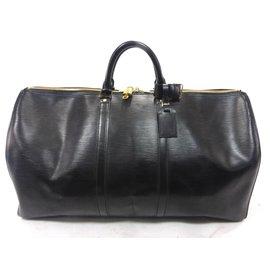 Louis Vuitton-keepall 55 Cuir épi noir-Black