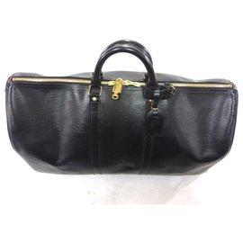 Louis Vuitton-KEEPALL 55 CUIR EPI NOIR-Noir