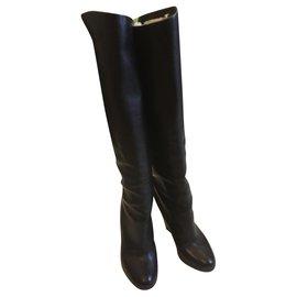 Christian Louboutin-Knee high boots-Black