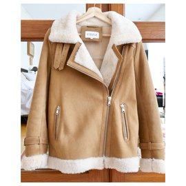 Claudie Pierlot-sheep jacket returned claudie pierlot-Beige