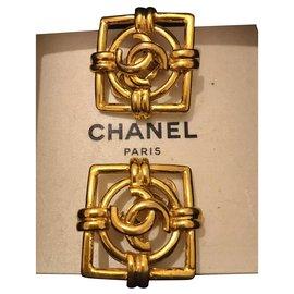 Chanel-Vintage Chanel earrings-Golden
