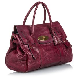 Mulberry-Mulberry Red Leather Bayswater Satchel-Red