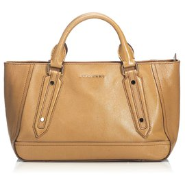 Burberry-Burberry Brown Leather Somerford Satchel-Brown
